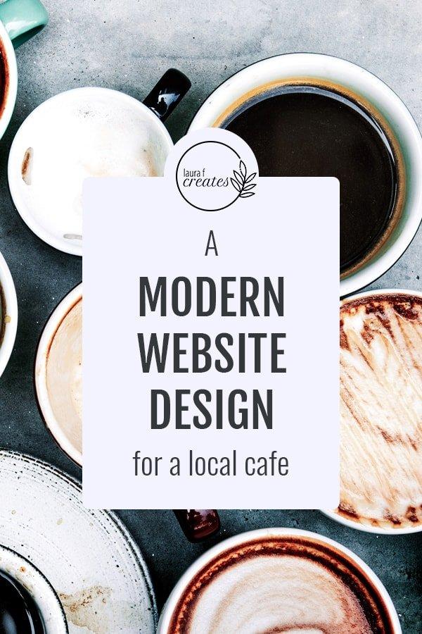 A modern website design for a local cafe
