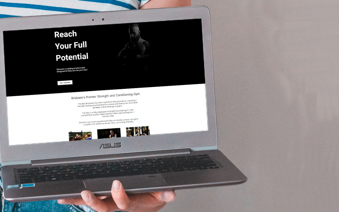 Modern Website Design for a Local Community Gym By Laura F Creates. This blog post includes tips for building your website, website design tips, business growth tips & branding tips. #marketing #websitedesign #website #branding
