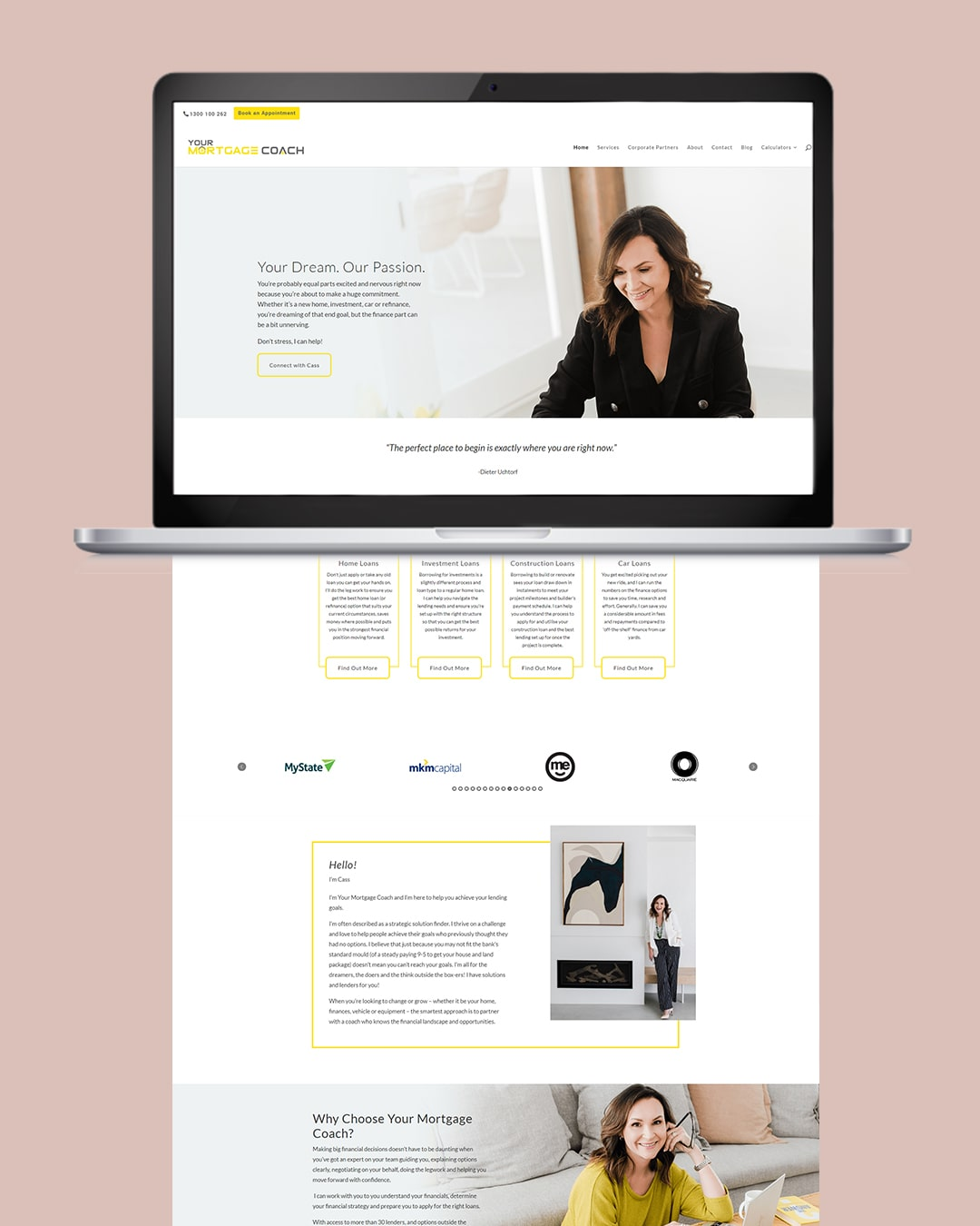 A Clean Website Design for a Local Mortgage Broker by Laura F Creates. This blog post includes tips for building your website, copywriting tips, websites for business.
