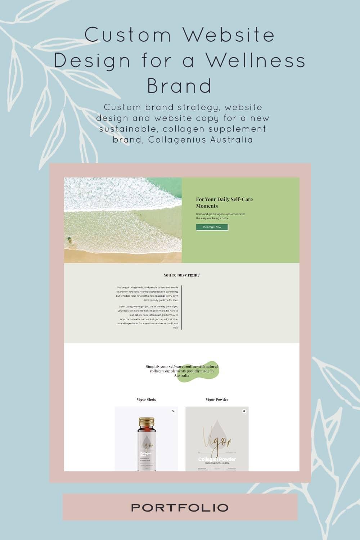 Custom Brand Strategy and Website Design for Collagenius Australia