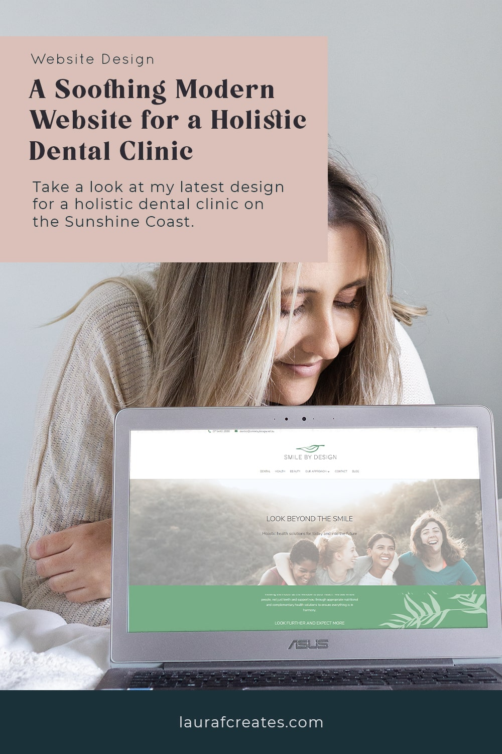 A Soothing Modern Website for a Holistic Dental Clinic