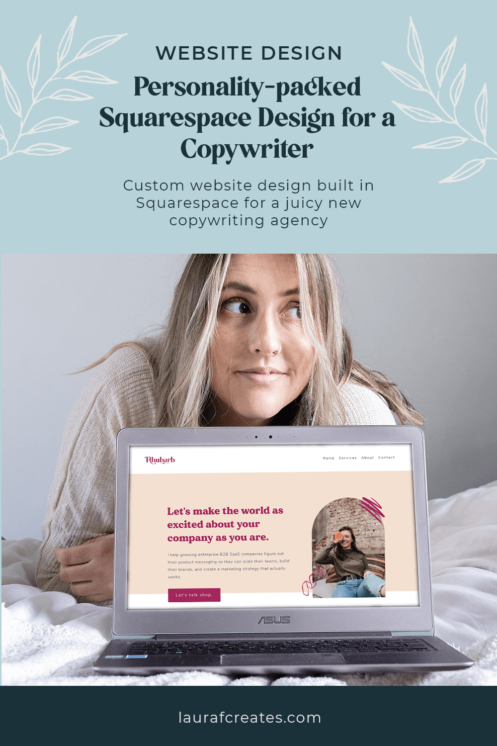Personality-packed Squarespace Design for a Copywriter